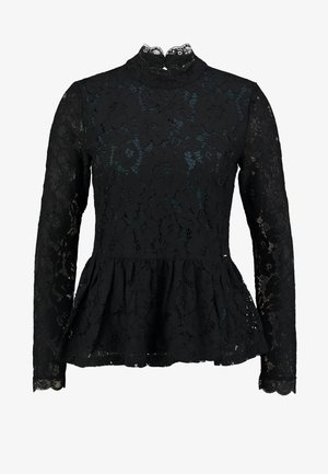 PEPLUM BLOUSE - Blusa - deep black