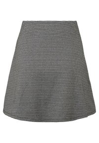 TOM TAILOR DENIM - MIT HAHNENTRITTMUSTER - A-line skirt - gray