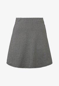 TOM TAILOR DENIM - MIT HAHNENTRITTMUSTER - A-line skirt - gray - 0
