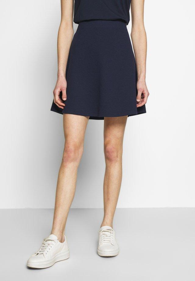 SKATER SKIRT - A-line skirt - real navy blue