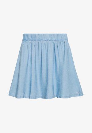 FLARED SKIRT - Denim skirt - light stone bright blue denim
