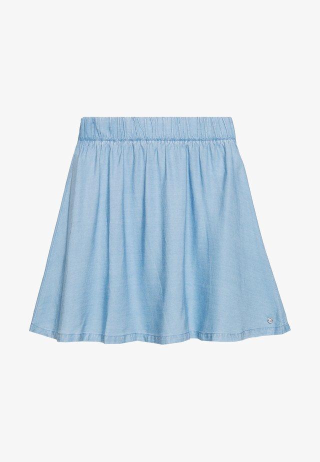 FLARED SKIRT - Jeansrok - light stone bright blue denim