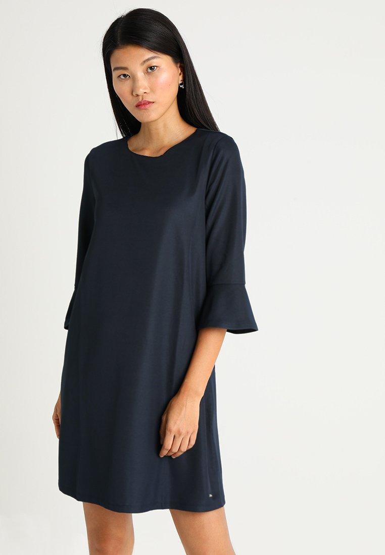 TOM TAILOR DENIM - DRESS WITH RUFFLE SLEEVES - Freizeitkleid - real navy blue