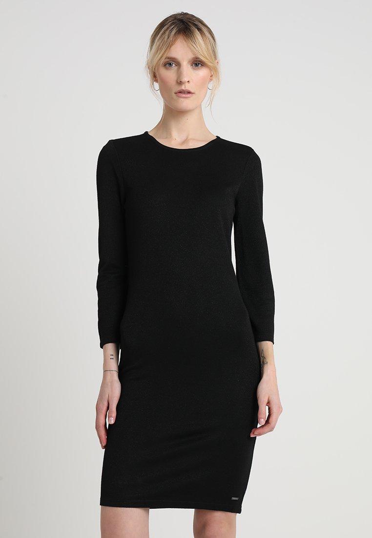 TOM TAILOR DENIM - BODYCON DRESS - Pouzdrové šaty - black