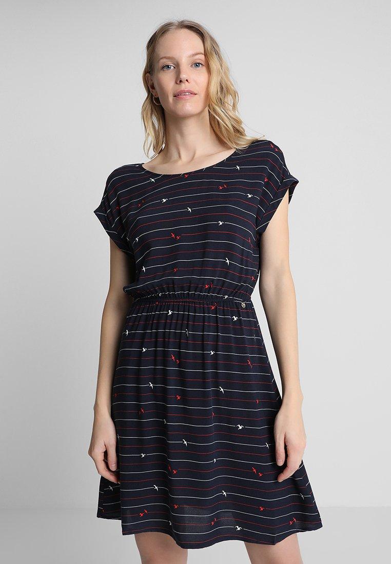 TOM TAILOR DENIM - CASUAL PRINT DRESS - Day dress - blue