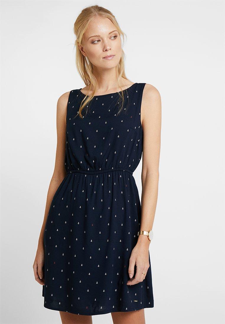 TOM TAILOR DENIM - EASY PRINT DRESS - Kjole - dark blue