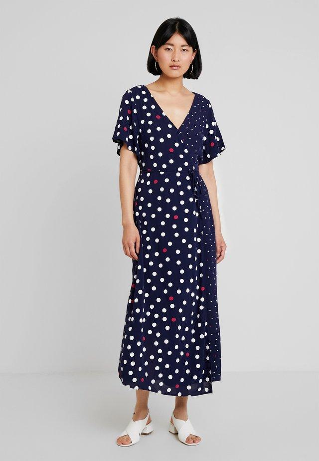 DOT MIX WRAP DRESS - Freizeitkleid - blue/white