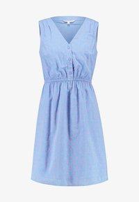 TOM TAILOR DENIM - FIL COUPÉ MINI DRESS - Skjortekjole - chambray pink/blue - 5