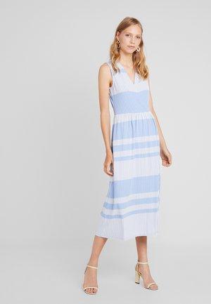 STRIPED WRAP DRESS - Maxikjole - blue/white