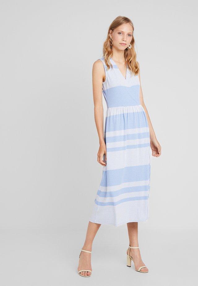 STRIPED WRAP DRESS - Maxikleid - blue/white