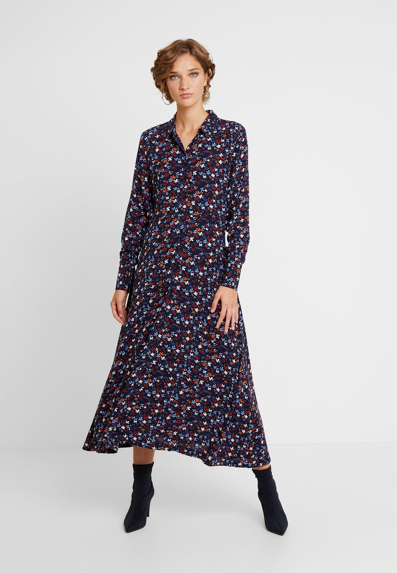 TOM TAILOR DENIM - PRINTED - Blusenkleid - navy blue