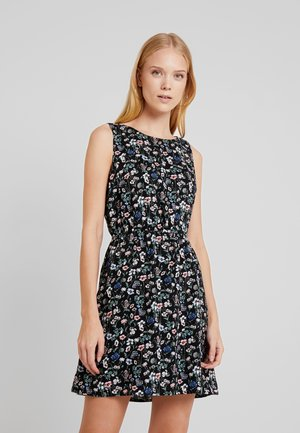 ALL OVER PRINTED MINI DRESS - Robe d'été - black/grey