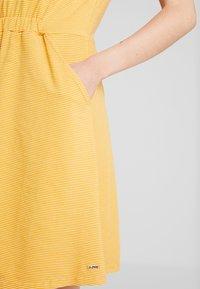 TOM TAILOR DENIM - Jerseykjole - yellow / white - 4