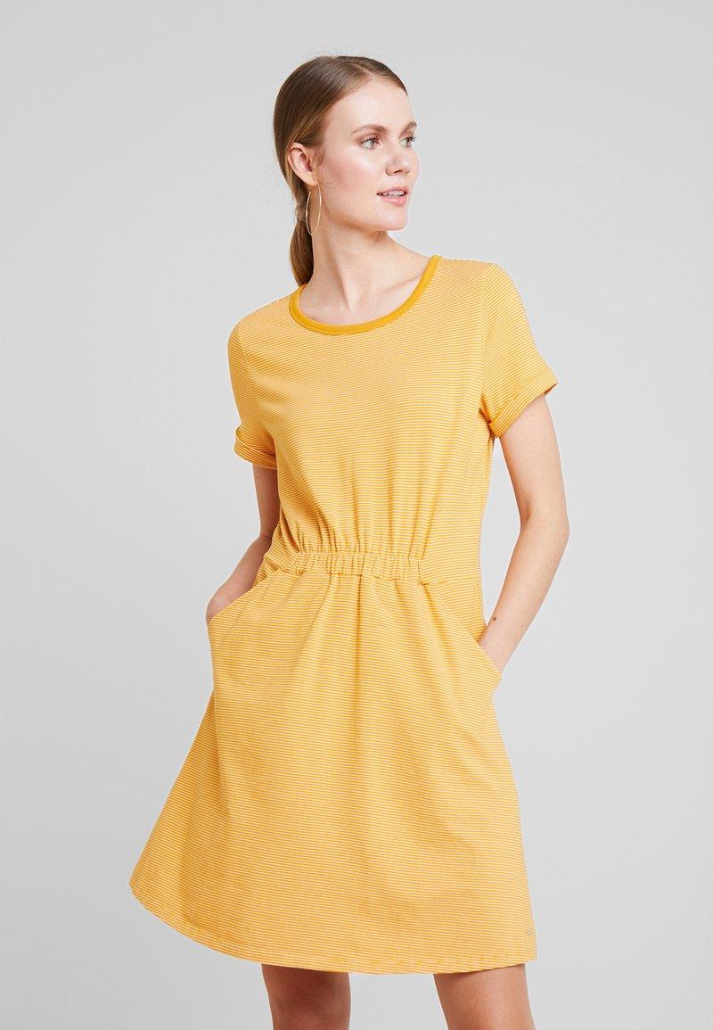 TOM TAILOR DENIM - Jerseykjole - yellow / white