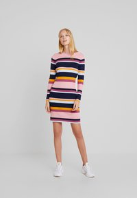 TOM TAILOR DENIM - DRESS - Shift dress - multicolor/blue - 2