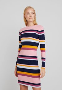 TOM TAILOR DENIM - DRESS - Shift dress - multicolor/blue - 0