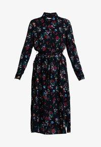 TOM TAILOR DENIM - SHIRT DRESS WITH FLOWER - Skjortklänning - black - 5