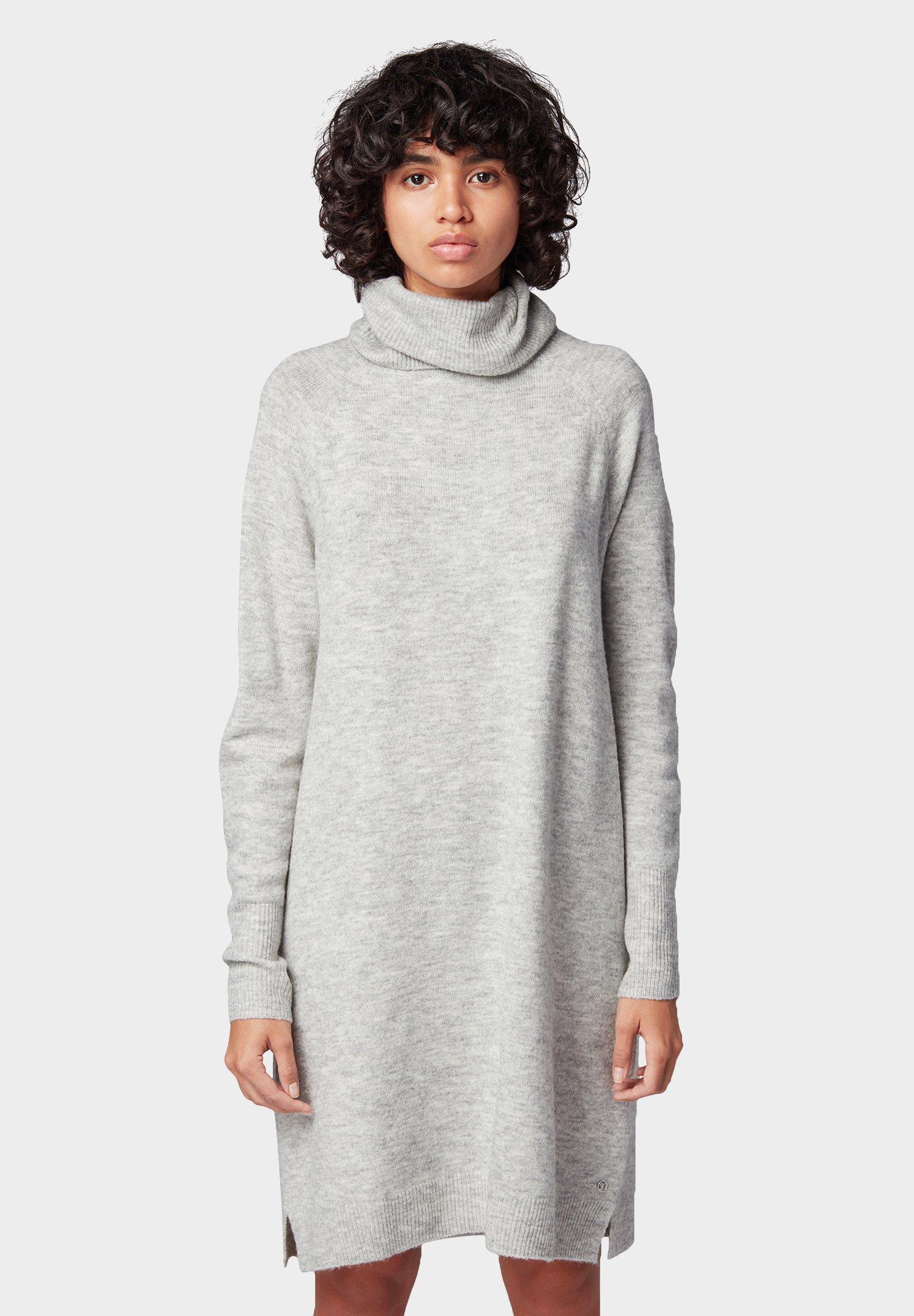 TOM TAILOR DENIM Robe pull - gris clair light silver grey melange
