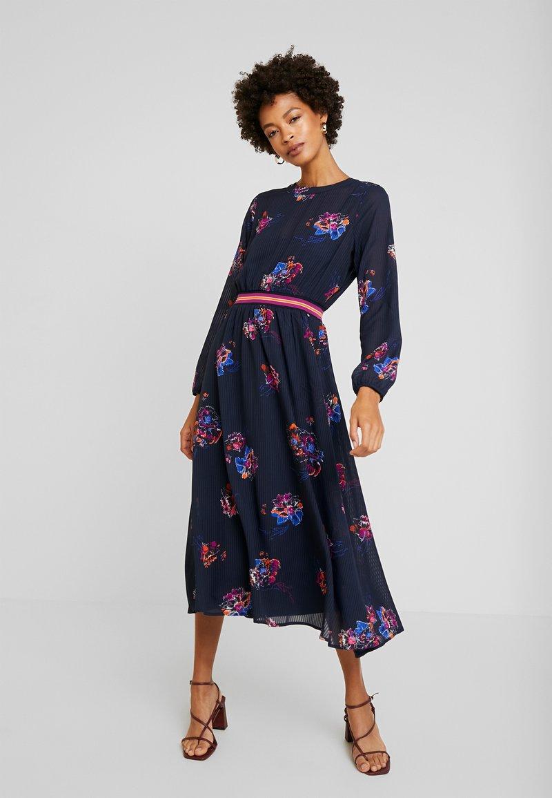 TOM TAILOR DENIM - PRINTED DRESS - Maxi dress - navy