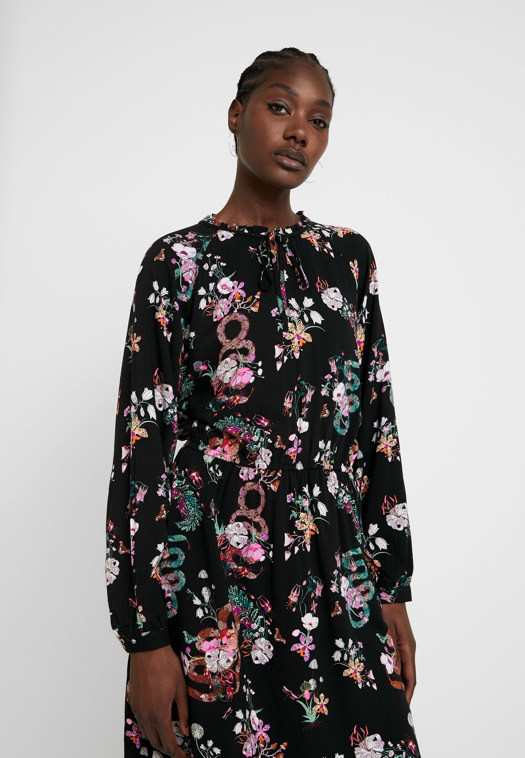 TOM TAILOR DENIM PRINTED MINI DRESS - Sukienka letnia - black