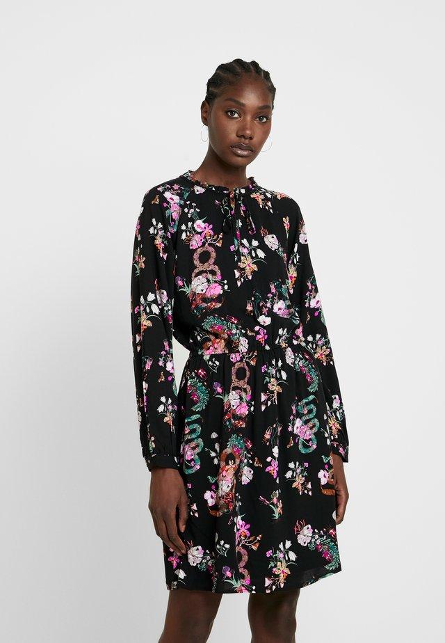 PRINTED MINI DRESS - Sukienka letnia - black