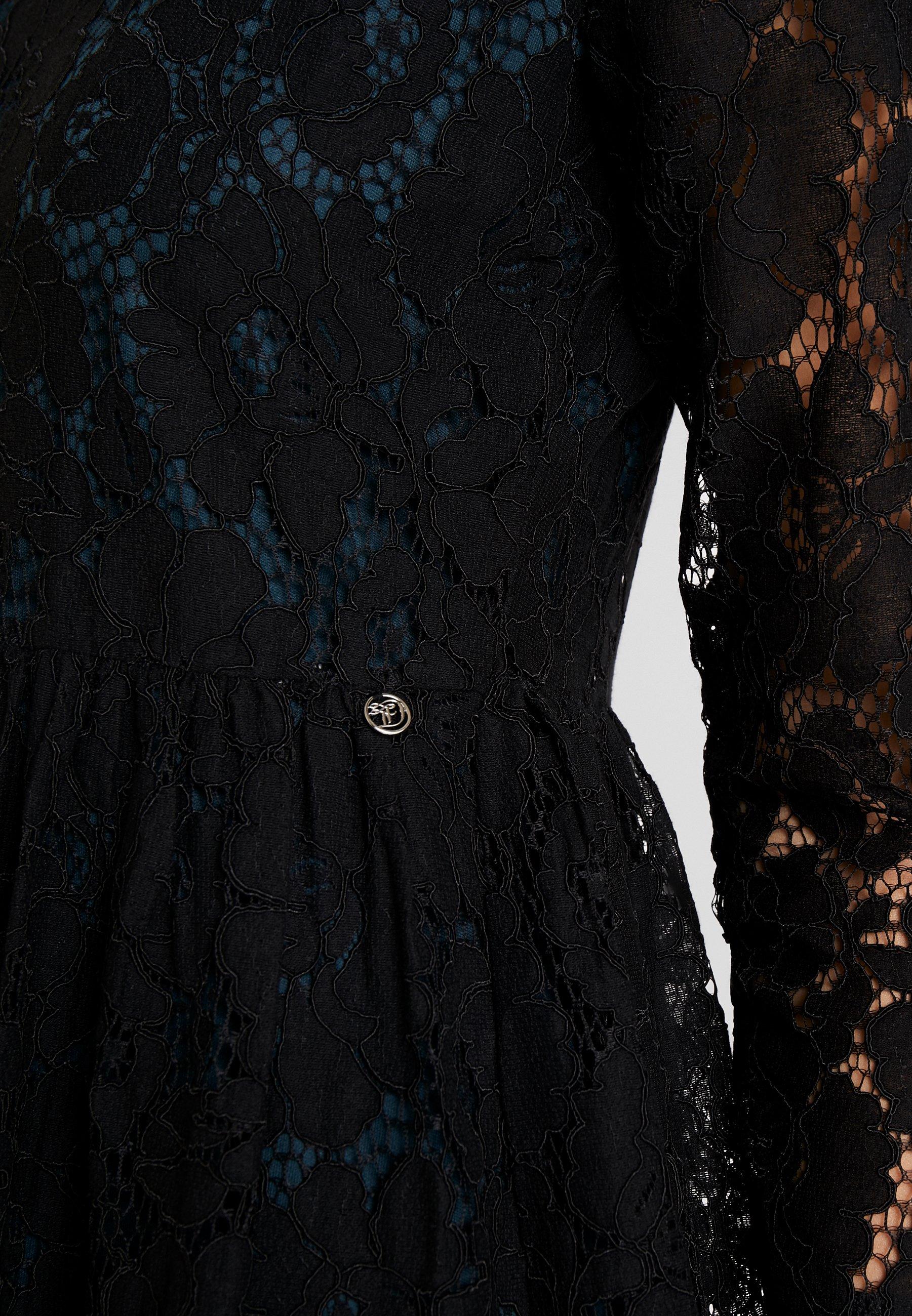 TOM TAILOR DENIM MINI DRESS - Cocktailklänning - deep black