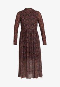 TOM TAILOR DENIM - PRINTED MESH DRESS - Vestido informal - brown/zebra - 5