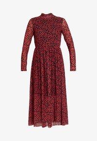 TOM TAILOR DENIM - PRINTED MESH DRESS - Vestido informal - black/red - 4
