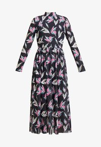 TOM TAILOR DENIM - PRINTED MESH DRESS - Denní šaty - black abstract flower print grey - 5