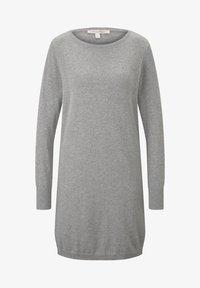 TOM TAILOR DENIM - Robe pull - light grey - 3