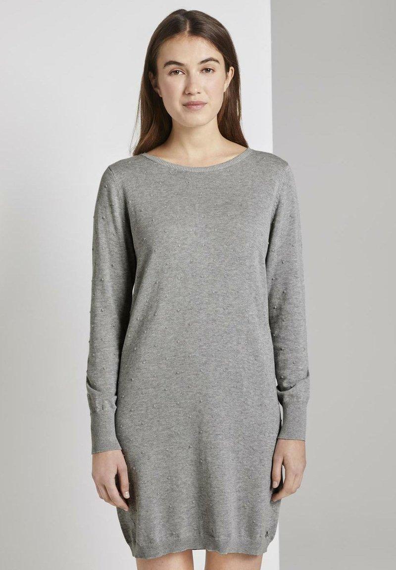 TOM TAILOR DENIM - Robe pull - light grey