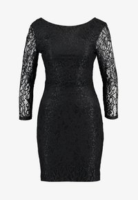 TOM TAILOR DENIM - BODYCON DRESS - Vestido de cóctel - deep black - 6