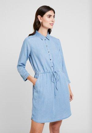 DRESS - Shirt dress - mid stone bright blue denim