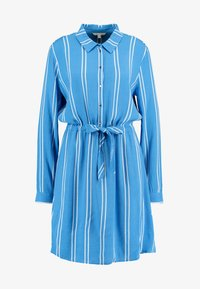 TOM TAILOR DENIM - PRINTED DRESS - Blousejurk - blue/white - 4