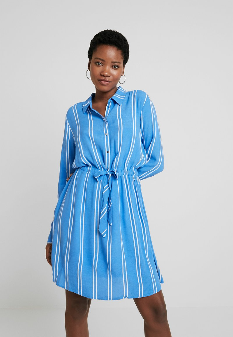 TOM TAILOR DENIM - PRINTED DRESS - Blousejurk - blue/white