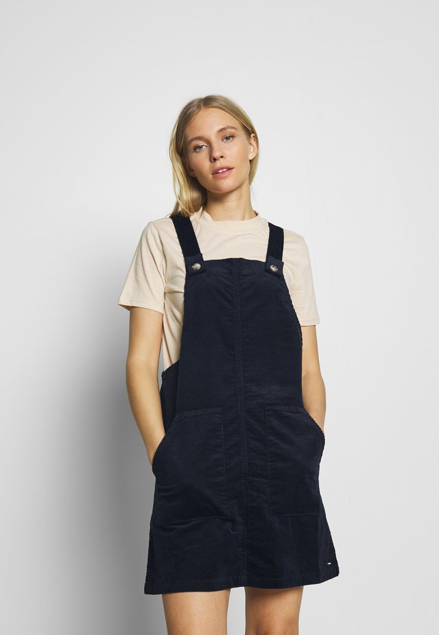 DUNGAREE SKIRT - Day dress - dark navy
