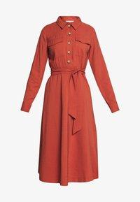 TOM TAILOR DENIM - STRUCTURED BELTED CARGO DRESS - Kjole - fox orange - 3