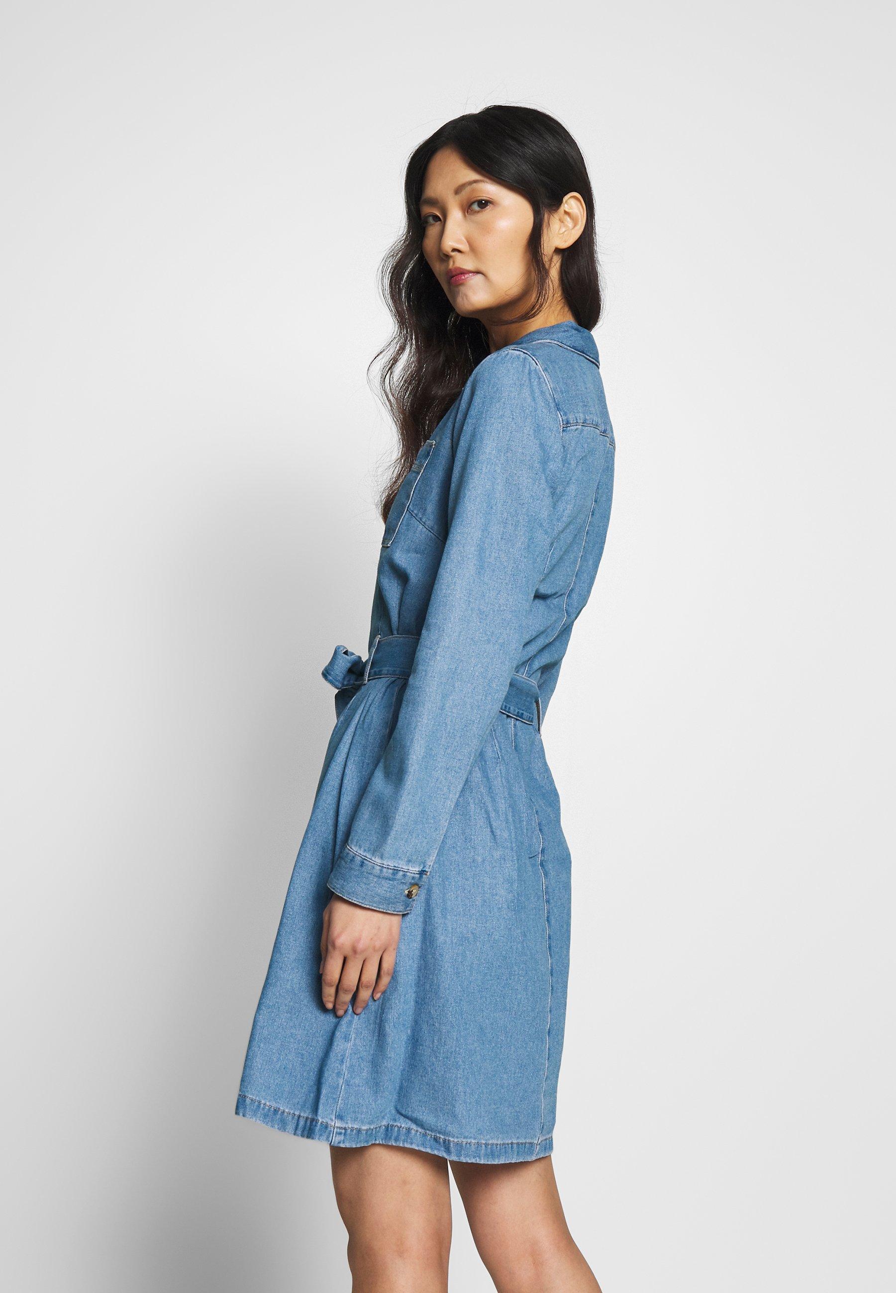 TOM TAILOR DENIM Sukienka jeansowa - used mid stone blue denim