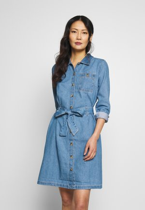 Robe en jean - used mid stone blue denim