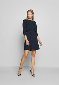 TOM TAILOR DENIM - DRESS WITH EMBROIDERY - Day dress - navy - 1