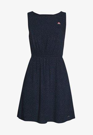 DRESS WITH EMBROIDERY - Korte jurk - navy
