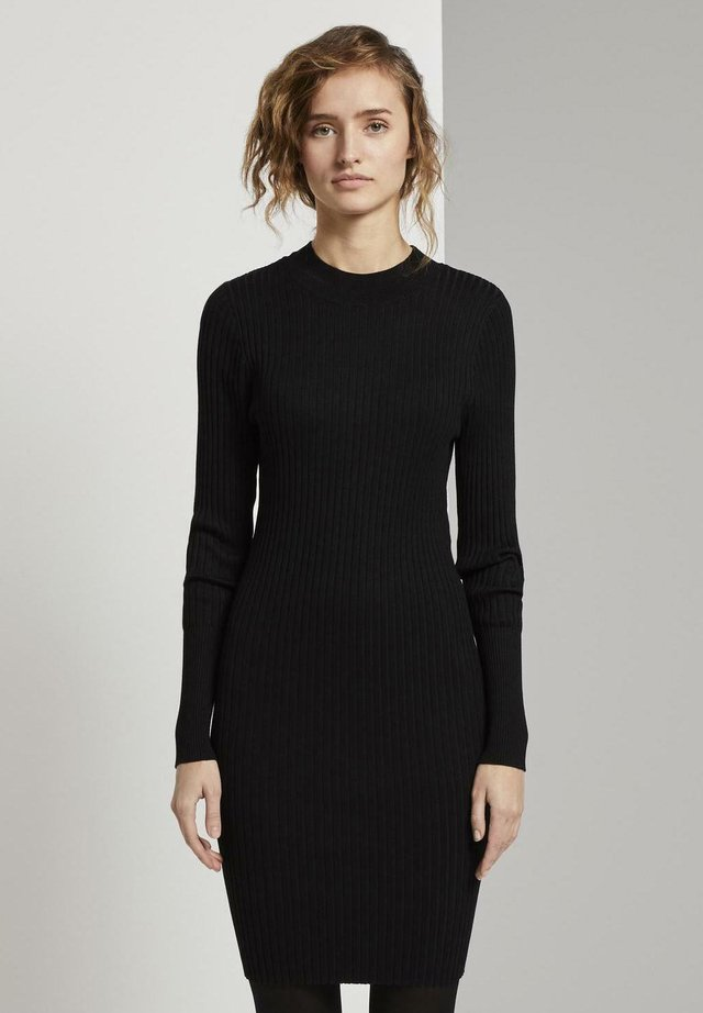 Vestido de punto - deep black