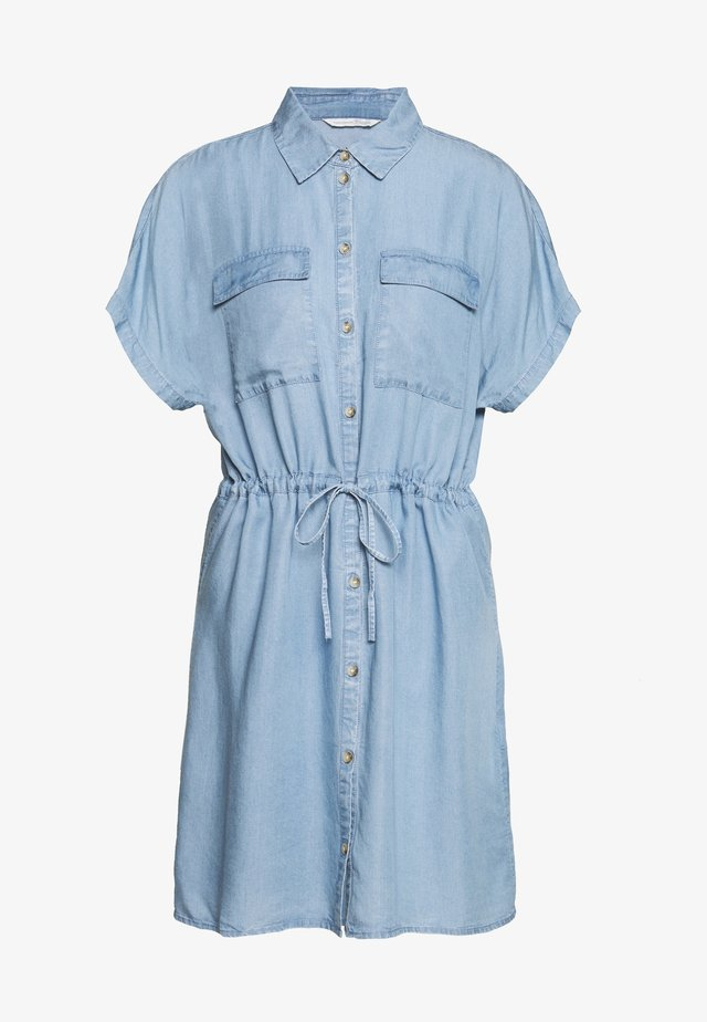 CHAMBRAY UTILITY DRESS - Jersey dress - light stone/bright blue denim