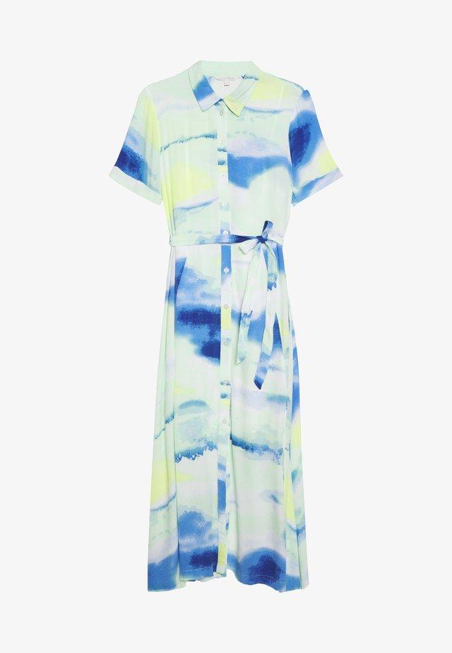 MIDI TIE DYE DRESS - Maxi-jurk - green/blue