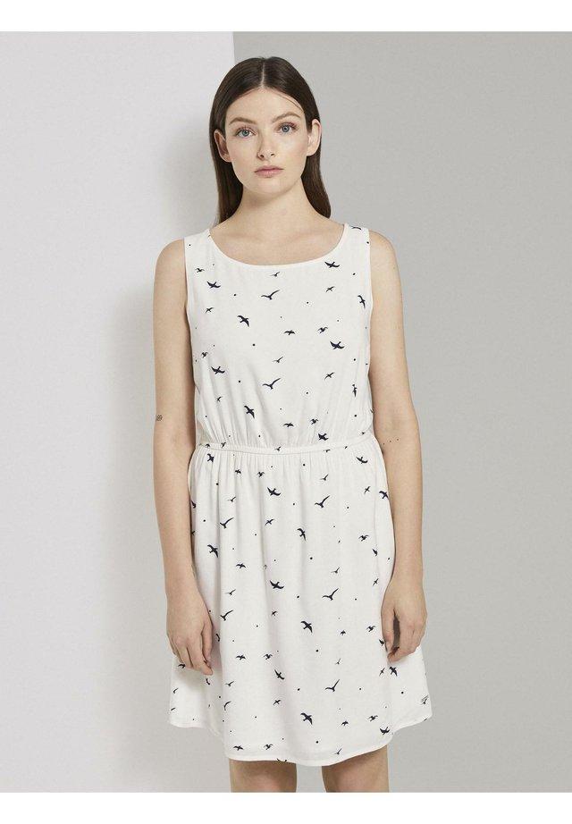 DRESS - Korte jurk - off white seagull print