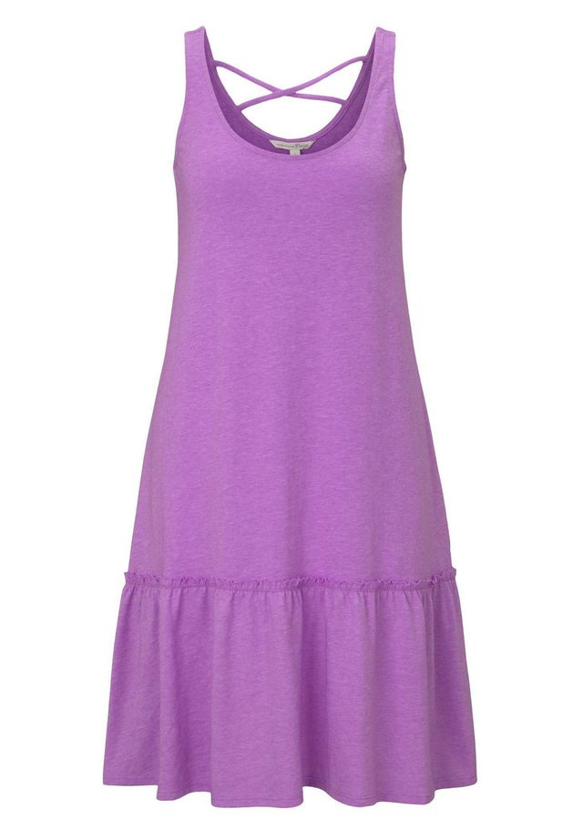 DRESS WITH BACK DETAIL - Jerseykleid - light berry