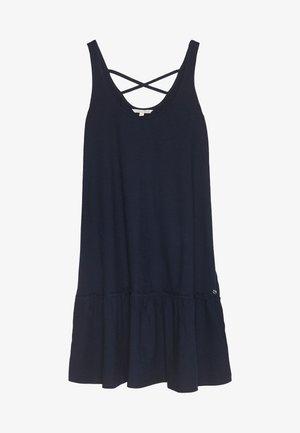 DRESS WITH BACK DETAIL - Žerzejové šaty - real navy blue
