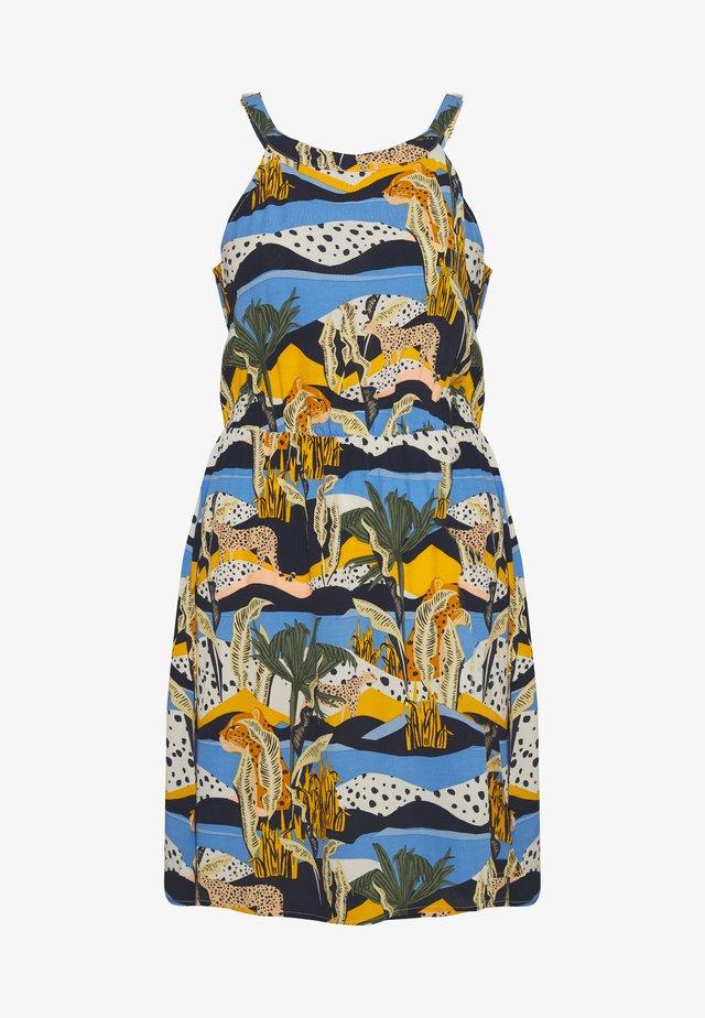 NECKHALTER MINI DRESS - Korte jurk - blue