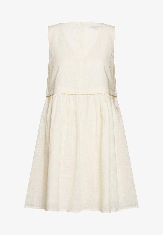 Korte jurk - soft creme beige