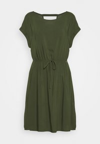 TOM TAILOR DENIM - OVERCUT SHOULDER DRESS - Freizeitkleid - dusty rifle green - 0